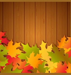 autumn festival frame background vector image