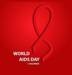 awareness world aids day 3d concept eps10 vector image