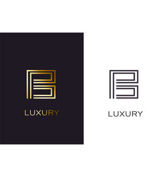 b gold styled letter monogram luxury style vector image