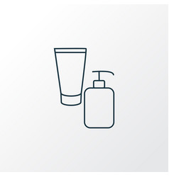 beauty product icon line symbol premium quality vector image