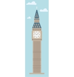 Big Ben Tower on plain background vector image