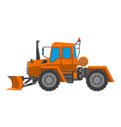 Big tractor for maintenance works vector