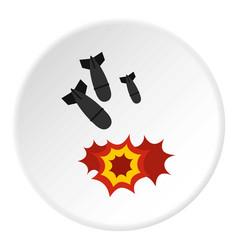 Bomb icon circle vector