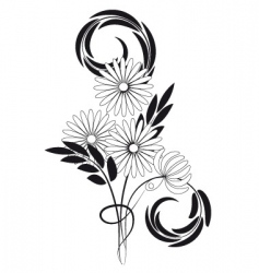 Bouquet of daisies vector