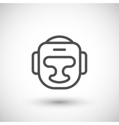 Boxing helmet line icon vector