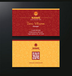 Business card both side vector