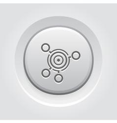 Business Goals Icon Grey Button Design vector