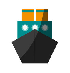 Cargo ship icon image vector