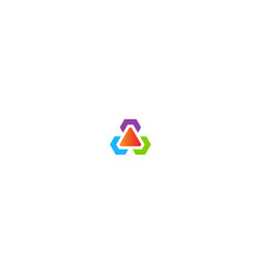 circle triangle colored logo vector image
