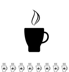 coffee cup black icon vector image