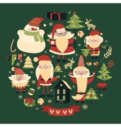 collection of christmas items vector image