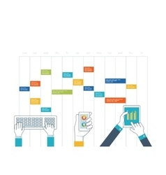 Concept business analysis consulting planning vector