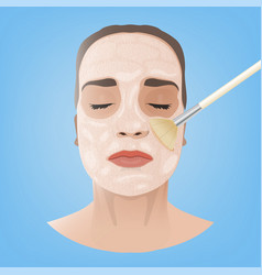 cosmetological face image vector image