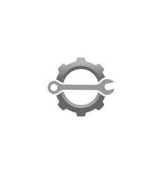 creative gear wrench logo design vector image