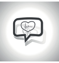 Curved cardiology message icon vector image