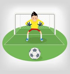 Cute goalkeeper vector
