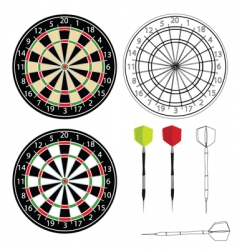 dartboards vector image