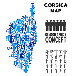 Demographics corsica france island map vector
