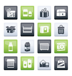 Different kind package icons vector