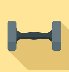dumbell icon flat style vector image