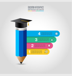 education infographics template 4 step vector image