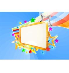 empty signboard vector image