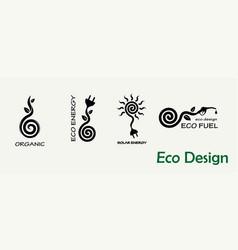 environmental design a set templates for vector image
