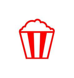 flat line popcorn icon vector image