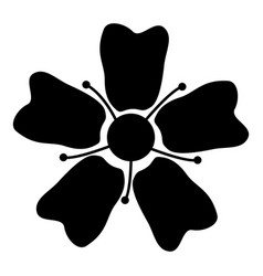 flower sakura icon black color flat style simple vector image