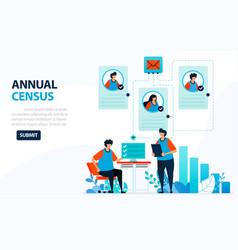 For 2020 population census digital concept vector