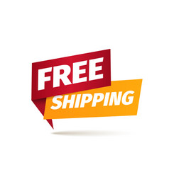 Free shipping isolated icon delivery vector