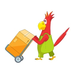 Funny Parrot Worker vector image