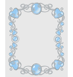 Gemstone frame vector image