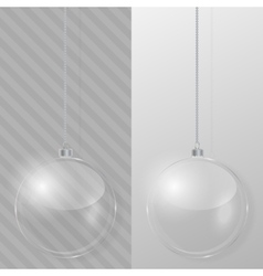 Glass Christmas ball Design template vector