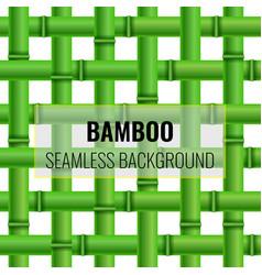 Green bamboo weaving seamless pattern background vector