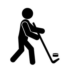 hockey glyph icon vector image