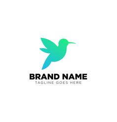 humming bird logo design template icon element vector image