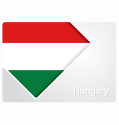 Hungarian flag design background vector