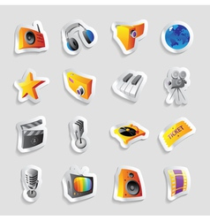 Icons for media and music vector