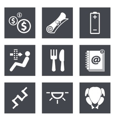 Icons for Web Design set 16 vector