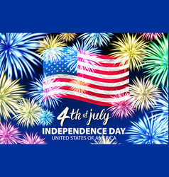 independence day celebration background with vector image