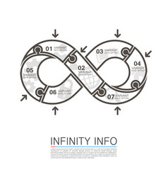 Infinity icons puzzle vector