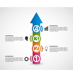 infographics in form arrows vector image