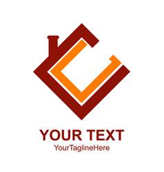 Initial letter cc logo design template element vector