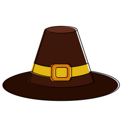 isolated hat design vector image