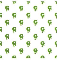 letter g made of green slime vector image