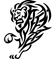 Lion in tribal style vector