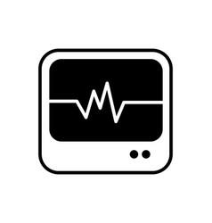 Medical monitor icon vector