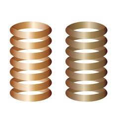 Metal springs vector