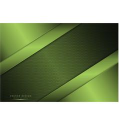 Metallic green with carbon fiber texture vector